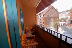 Balcony with courtyard views, Arapahoe Lodge Keystone, Colorado