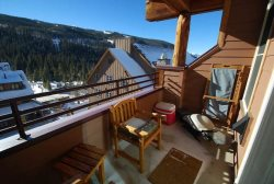 Balcony with fabulous views of the ski area
