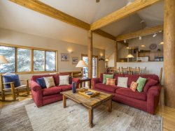Mountain style dining room seating up to 8 guests
