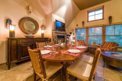 Jack Pine condo features classic mountain decor with knotty pine furnishings