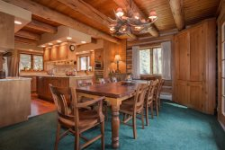 Spacious, mountain style kitchen with updated cabinetry