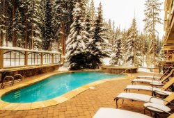 Heated pool and hot tub with beautiful surrounding views