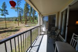 Spacious, private balcony with great views of Buffalo Mountain