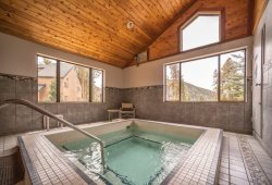 Luxurious, indoor recreational hot tub