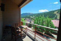Spacious balcony surrounded by beautiful mountain views