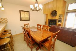 Beautifully situated dining room table accommodating up to six guests