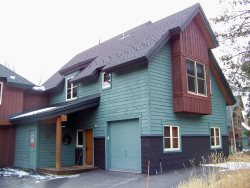 Ski Tip Townhomes located along the Snake River of East Keystone