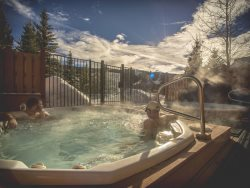 Loosen up in the relaxing hot tubs surrounded by amazing mountain views