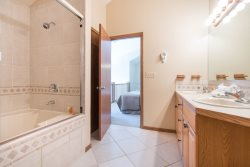 Deluxe bathroom with granite counters