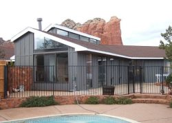 Home is private and secluded in an incredible location that is on the outskirts and yet completely accessible to Uptown and West Sedona