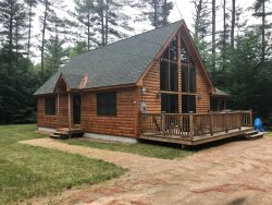 Bartlett Log Home - Brand New & 1 minute from Attitash & Bear Peak
