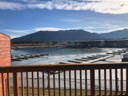 Tahoe Keys beach right out the front door!  Unit has boat slip, great mountain views