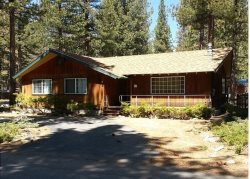 Great cabin in area of original Tahoe cabins, gas fireplace and hot tub, new wood floors