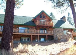 Huge Log home on a 16 acre lot, a unique Tahoe home in the pines.