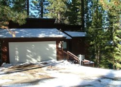 V24-Tahoe cabin in the Pines, quiet location, wonderful back deck set in the trees, affordable pricing