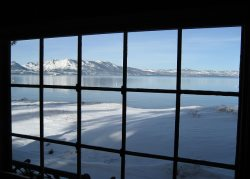 Lake Tahoe Lakefront home. Highly desired for the amazing location and views! Step off deck into sand beach!