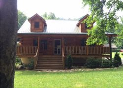 Beautiful Custom Built Log Cabin On Campbell Creek In Maggie Valley