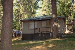 Large cabin under the trees and close to Wallowa Lake