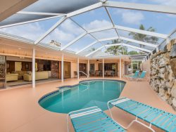 Exceptional Executive 6 Bedroom rental home across from Fort Myers Beach with new granite kitchens and decor