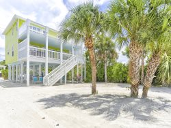 New Private Hot Tub at this Spacious Beachside Home, One House back from the Beach with Gulf Views and a Shared Pool
