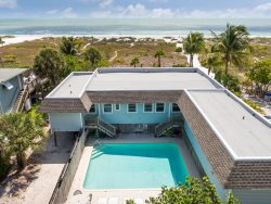 Newly decorated one half duplex with a spectacular view of the Gulf of Mexico.