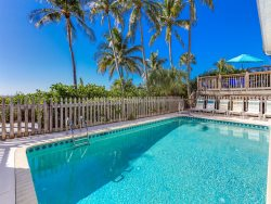 Beachfront, Very Private Wheelchair Accessible Half Duplex with Heated Pool.