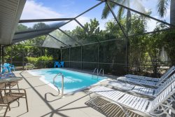Isle del Sol is a Spacious and Private Pool home just a short walk to the Pier and Beach.