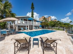 Bay and Beach Blessing is steps from the beach and on Matanzas Bay with New Pool and Dock