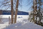 Beautiful Views of Skyles Lake in Winter, This is the View from the Cabin