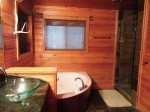 Master Bath, Jacuzzi Tub and Shower on Main Level