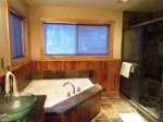 Queen, Twin En Suite Bathroom with Jacuzzi Tub and Shower