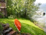 Summer Fun, Steps to the lake and a canoe for your paddling pleasure