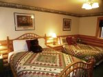 Downstairs Den with Pool Table, Wood Stove & Flat Panel TV