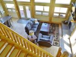 View of Open Concept Living from Loft Area