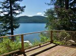 View of Whitefish Lake from the Deck at Irene`s Lake Cabin