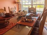 Queen Bedroom with TV and Custom Native American Cornices