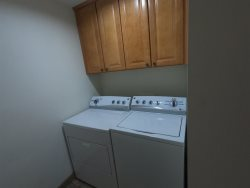 2nd bedroom with bunk double on the bottom, twin on the top