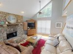 CPG - Great Room with High Vaulted Ceiling, Cozy Couch, Satellite TV