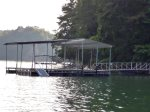 Private Covered Dock at On The Rocks on Norris Lake