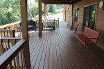 Lower level walk out to Full Width Covered Deck
