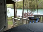 The hot tub at Lakesiide Dixie Dream overlooks Norris Lake
