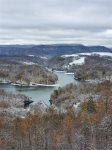 Snow Capped hills along the banks of Norris Lake