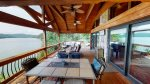 Enjoy beautiful views from the massive covered porch
