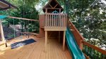 open deck for the kids to play