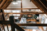 Ma Cook Lodge loft overlooks the great room
