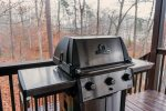 Enjoy grilling out on the lakefront deck at Ma Cook Lodge