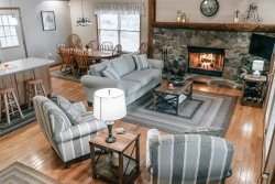 Ma Cook Lodge is a lakefront cabin rental with private covered dock on Norris Lake. Pet Friendly!