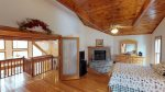 Quiet waters Loft master with fireplace and tv