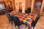 San Felipe Dorado Mountain side Casa Fiesta Dinner Table