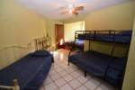 La Hacienda casa Julieta - second bedroom 4 singles beds and 1 full bed